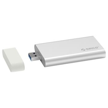 Product image of ORICO mSATA USB 3.0 SSD Enclosure - Aluminium - Click for product page of ORICO mSATA USB 3.0 SSD Enclosure - Aluminium