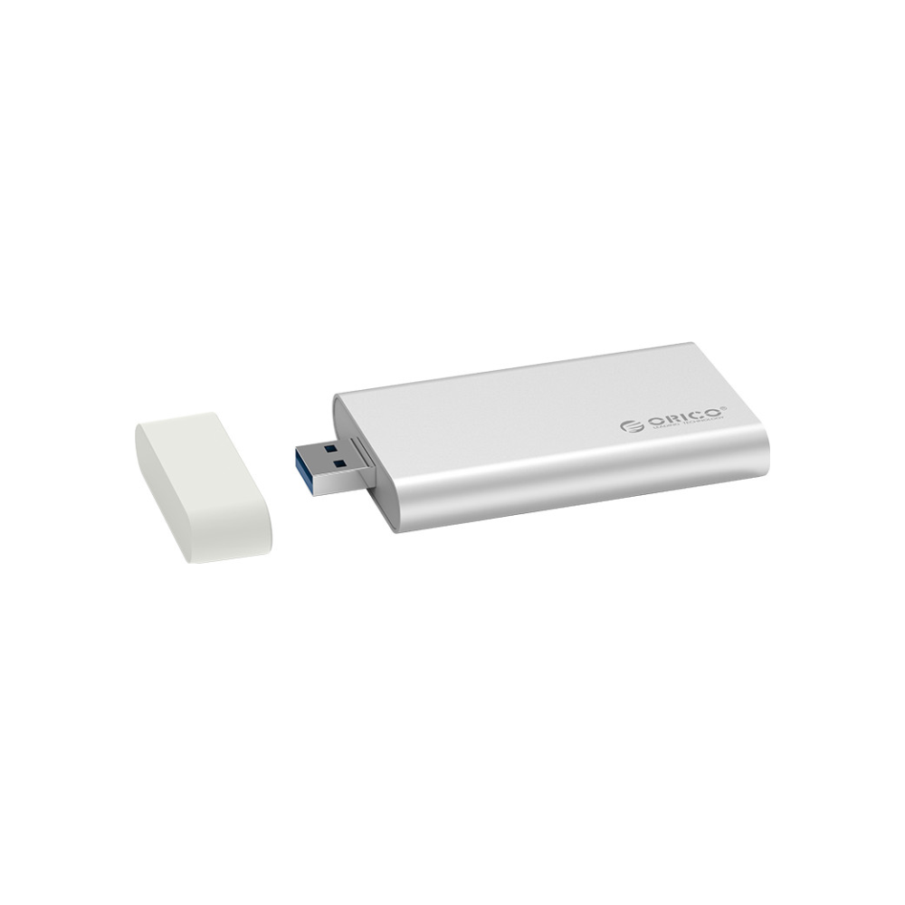 A large main feature product image of ORICO mSATA USB 3.0 SSD Enclosure - Aluminium