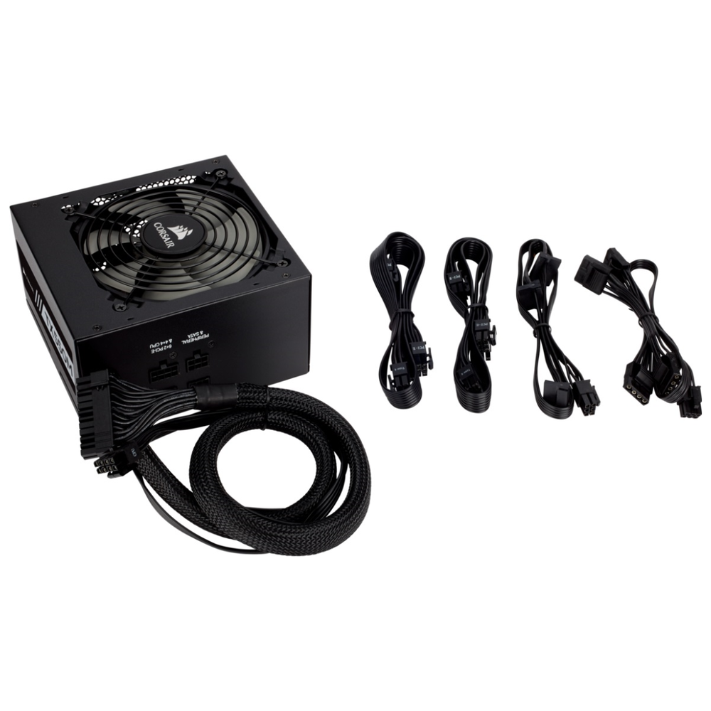 A large main feature product image of Corsair TX550 550W 80PLUS Gold Semi-Modular Power Supply