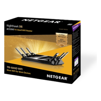 Product image of Netgear Nighthawk X6 AC3200 Tri-Band WiFi Gigabit Router   - Click for product page of Netgear Nighthawk X6 AC3200 Tri-Band WiFi Gigabit Router