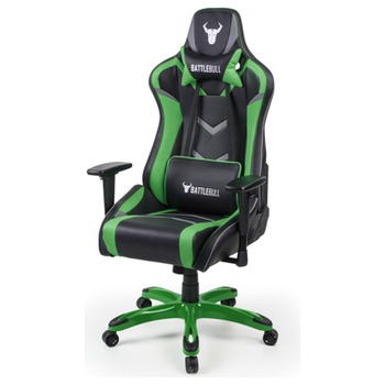 Product image of BattleBull Commander Gaming Chair Black/Green/Grey - Click for product page of BattleBull Commander Gaming Chair Black/Green/Grey