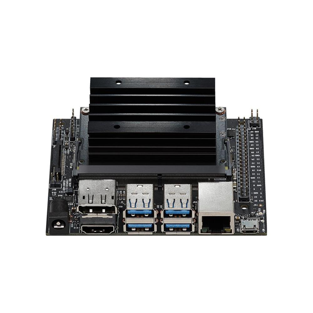 A large main feature product image of NVIDIA Jetson Nano Developer Kit