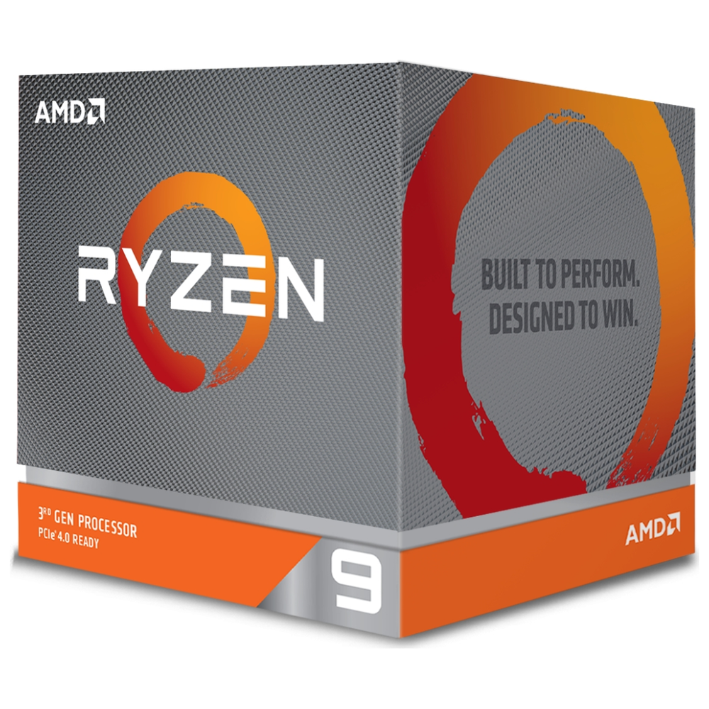 A large main feature product image of AMD Ryzen 9 3950X 16 Core 32 Thread Up To 4.7Ghz AM4 - No HSF Retail Box