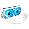 A product image of ID-COOLING AuraFlow X 240 SNOW AIO CPU Liquid Cooler