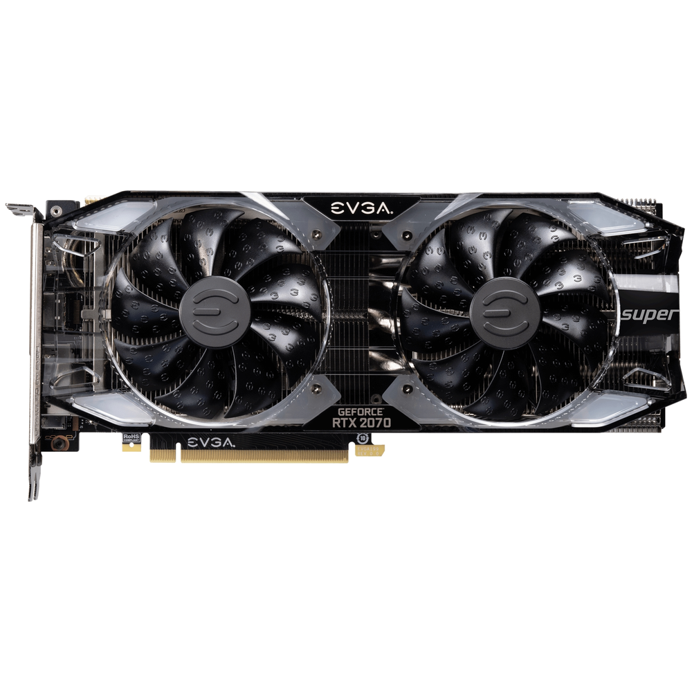 A large main feature product image of eVGA GeForce RTX2070 Super XC 8GB GDDR6