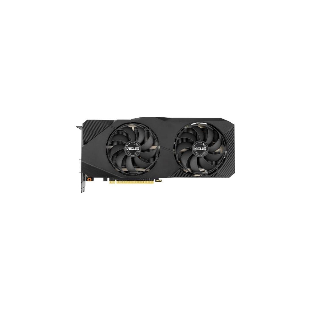 A large main feature product image of ASUS GeForce RTX2060 Super Dual OC 8GB GDDR6