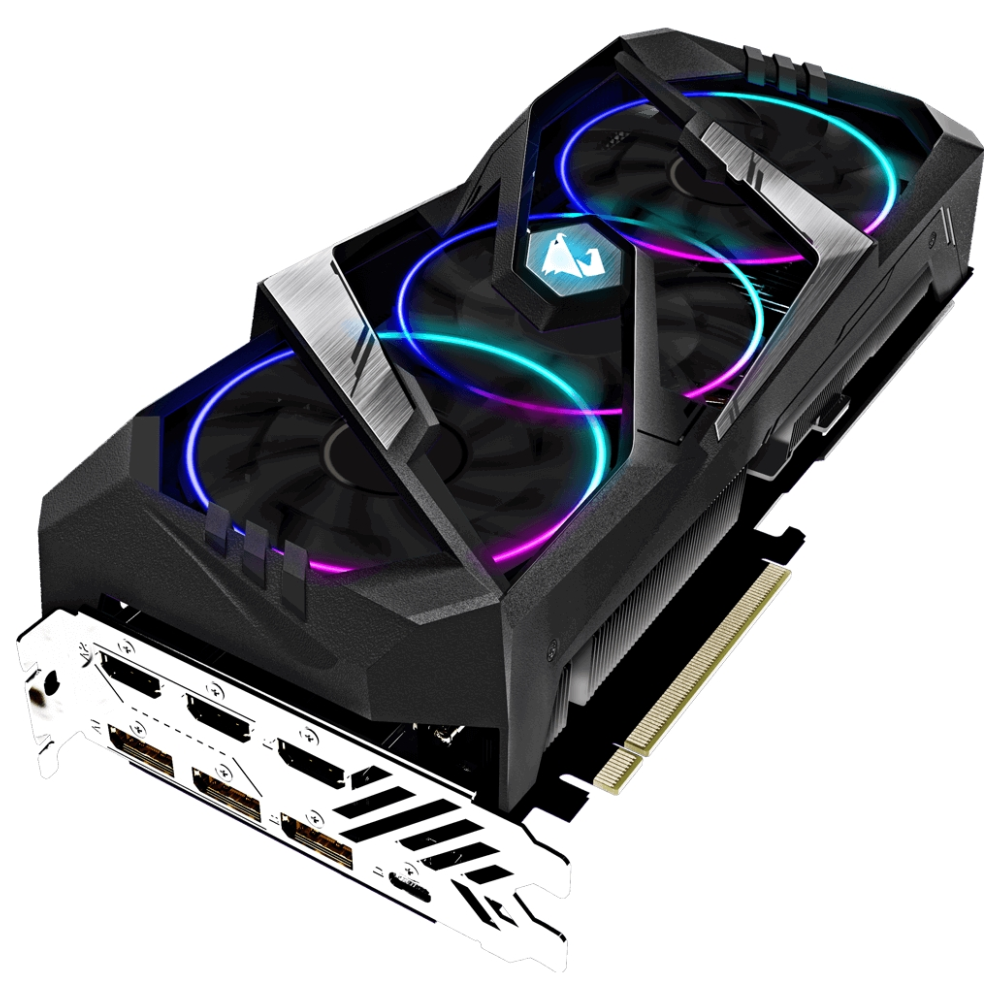 A large main feature product image of Gigabyte GeForce RTX2060 Super Aorus 8GB GDDR6