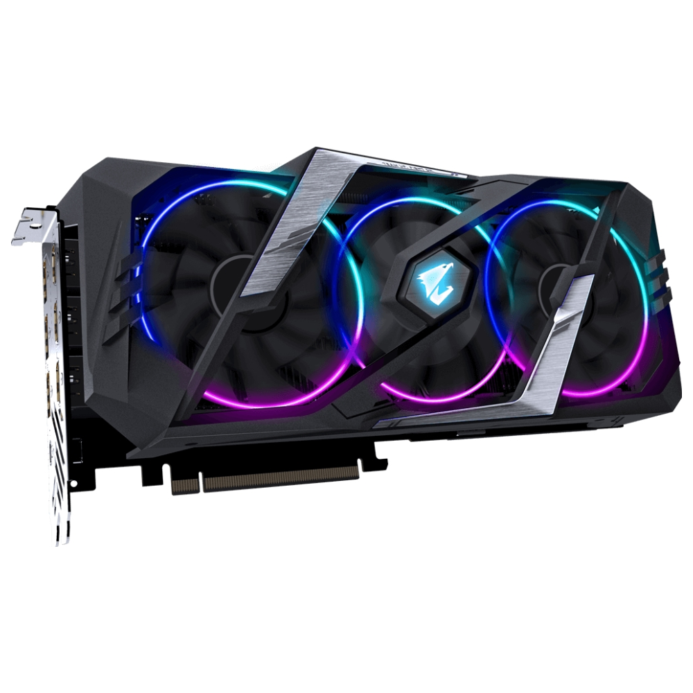 A large main feature product image of Gigabyte GeForce RTX2070 Super Aorus 8GB GDDR6