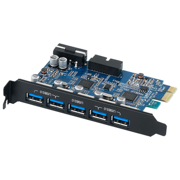 Product image of ORICO USB3.0 5-Port + Internal Header PCIe Expansion Card - Click for product page of ORICO USB3.0 5-Port + Internal Header PCIe Expansion Card
