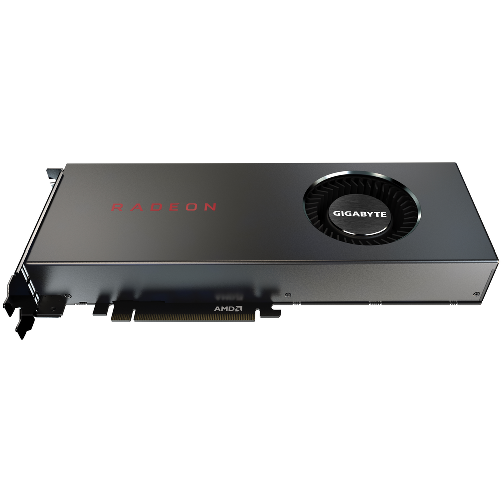A large main feature product image of Gigabyte Radeon RX 5700 8GB GDDR6