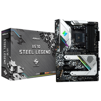 Product image of ASRock X570 Steel Legend AM4 ATX Desktop Motherboard - Click for product page of ASRock X570 Steel Legend AM4 ATX Desktop Motherboard