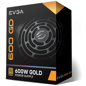 Product image of eVGA GD Series 600W 80PLUS Gold Power Supply - Click for product page of eVGA GD Series 600W 80PLUS Gold Power Supply