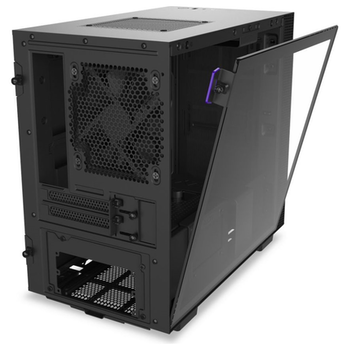 Product image of NZXT H210 Matte Black mITX Case w/ Side Panel Window - Click for product page of NZXT H210 Matte Black mITX Case w/ Side Panel Window