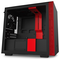 A small tile product image of NZXT H210 Matte Black/Red mITX Case w/ Side Panel Window