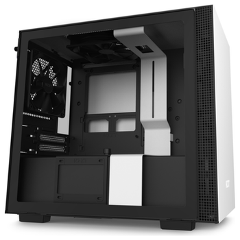 Product image of NZXT H210 Matte Black/White mITX Case w/ Side Panel Window - Click for product page of NZXT H210 Matte Black/White mITX Case w/ Side Panel Window