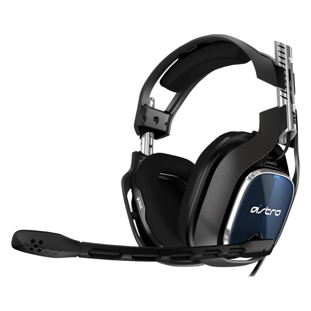 A large main feature product image of Astro Gaming A40 TR Headset + MixAmp Pro TR for PS4 & PC