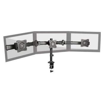 Product image of Brateck LDT06 Outstanding Series Triple Monitor Table Stand with Arms - Click for product page of Brateck LDT06 Outstanding Series Triple Monitor Table Stand with Arms