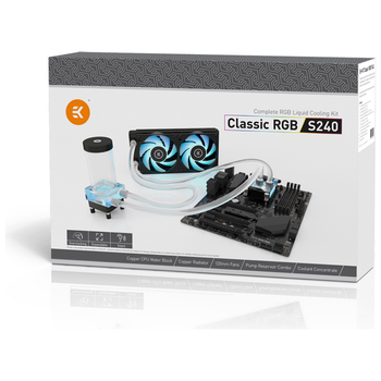 Product image of EK Classic RGB S240 Water Cooling Kit - Click for product page of EK Classic RGB S240 Water Cooling Kit