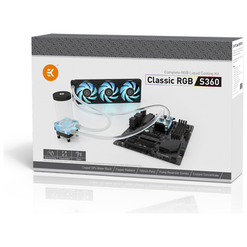 Product image of EK Classic RGB S360 Water Cooling Kit - Click for product page of EK Classic RGB S360 Water Cooling Kit