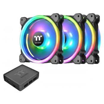 Product image of Thermaltake Riing Trio 12 LED RGB Radiator Fan TT Premium Edition (3-Fan Pack) - Click for product page of Thermaltake Riing Trio 12 LED RGB Radiator Fan TT Premium Edition (3-Fan Pack)