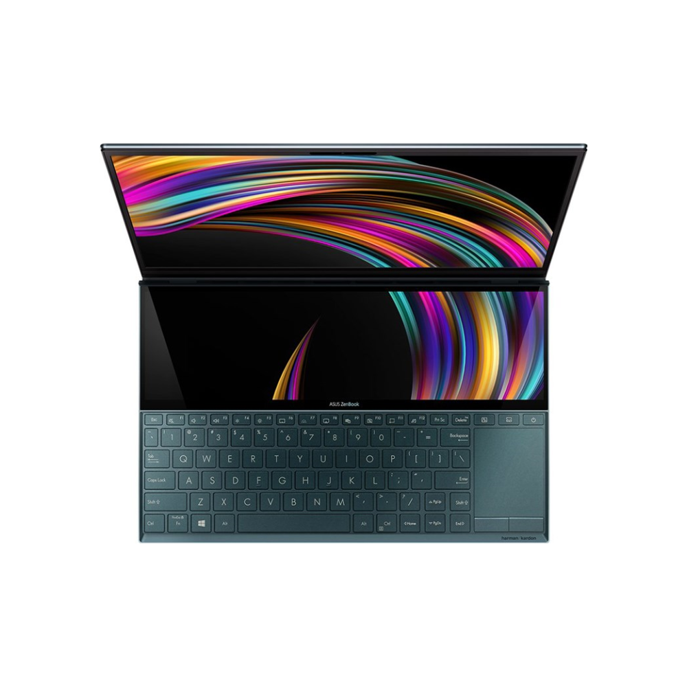 "A large main feature product image of ASUS ZenBook Duo UX481FL 14"" i7 Gen10 MX250 Celestial Blue Windows 10 Pro Ultrabook"