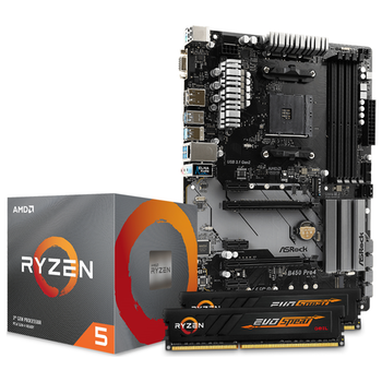 Product image of AMD Ryzen B450 Starter Bundle - Click for product page of AMD Ryzen B450 Starter Bundle