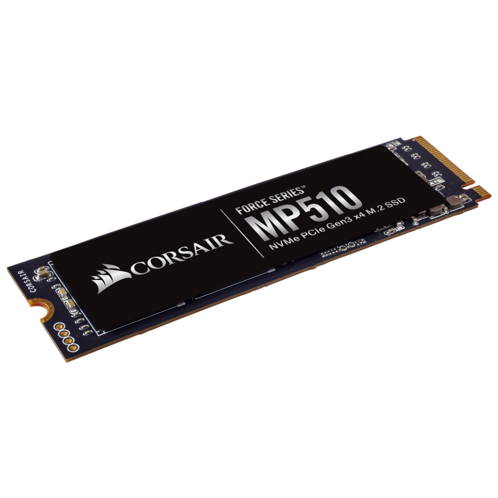 A large main feature product image of Corsair Force MP510 240GB M.2 NVMe PCIe Gen3 SSD