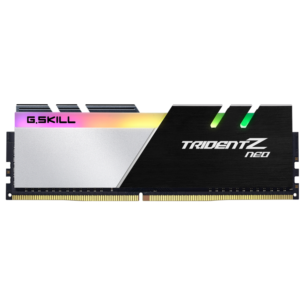 A large main feature product image of G.Skill 16GB Kit (2x8GB) DDR4 Trident Z RGB Neo C16 3200Mhz