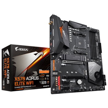 Product image of Gigabyte X570 AORUS ELITE WIFI AM4 ATX Desktop Motherboard - Click for product page of Gigabyte X570 AORUS ELITE WIFI AM4 ATX Desktop Motherboard