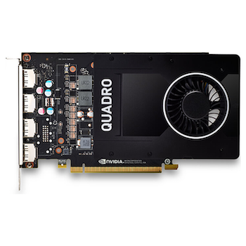 Product image of Leadtek Quadro P2200 1280-CUDA Core 5GB GDDR5 4x DisplayPort - Click for product page of Leadtek Quadro P2200 1280-CUDA Core 5GB GDDR5 4x DisplayPort