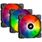 A small tile product image of Corsair iCue SP120 RGB Pro Perfomance Fan - Triple Pack w/ Lighting Node Core