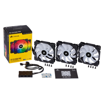 Product image of Corsair iCue SP120 RGB Pro Perfomance Fan - Triple Pack w/ Lighting Node Core - Click for product page of Corsair iCue SP120 RGB Pro Perfomance Fan - Triple Pack w/ Lighting Node Core