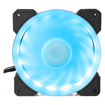 Product image of Bykski 120mm RGB PWM Black/White Cooling Fan - Click for product page of Bykski 120mm RGB PWM Black/White Cooling Fan