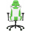 A product image of Vertagear Racing Series S-Line SL4000 Gaming Chair White/Green Edition