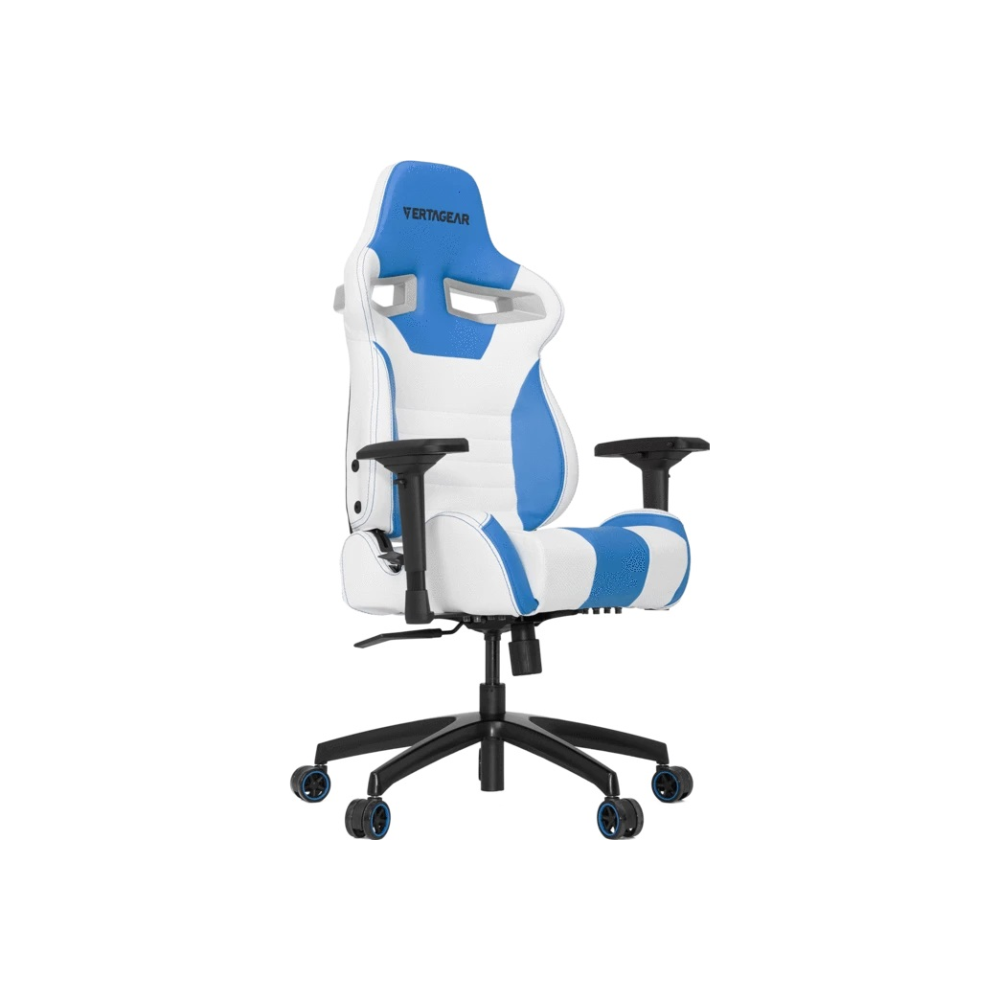 A large main feature product image of Vertagear Racing Series S-Line SL4000 Gaming Chair White/Blue Edition
