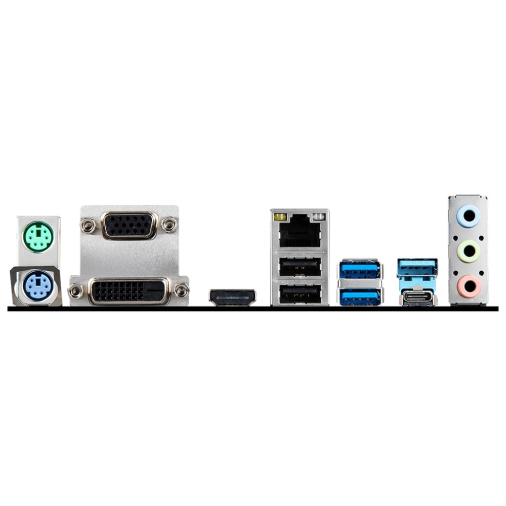 A large main feature product image of MSI B365M PRO-VDH LGA1151-CL mATX Desktop Motherboard