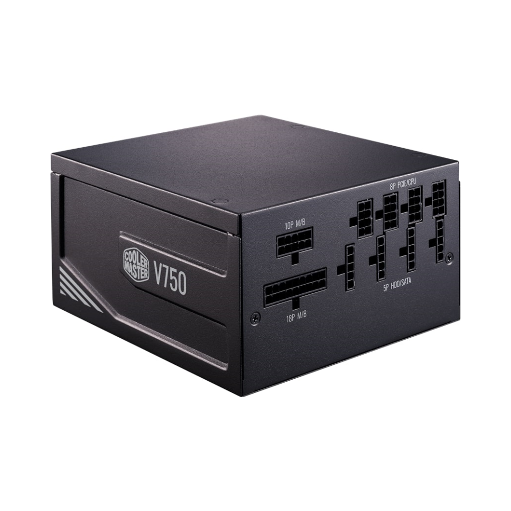 A large main feature product image of Cooler Master V 750W 80PLUS Gold Full Modular Power Supply