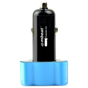 Product image of mBeat Triple-port Rapid Car Charger - Blue - Click for product page of mBeat Triple-port Rapid Car Charger - Blue