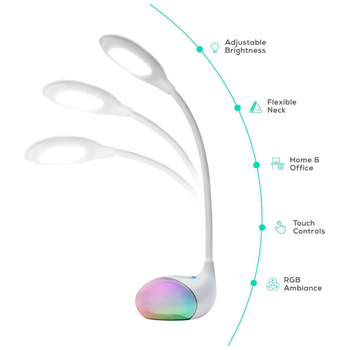 Product image of mBeat ACTIVIVA LED Desk Lamp With RGB Colour Changing Edge Light - Click for product page of mBeat ACTIVIVA LED Desk Lamp With RGB Colour Changing Edge Light