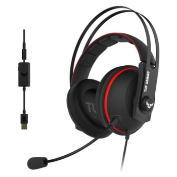 Product image of ASUS TUF Gaming H7 Black/Red Headset - Click for product page of ASUS TUF Gaming H7 Black/Red Headset