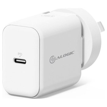 Product image of ALOGIC USB-C Wall Charger 18W with Power Delivery – White - Click for product page of ALOGIC USB-C Wall Charger 18W with Power Delivery – White