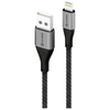 A product image of ALOGIC Super Ultra USB-A to Lightning Cable – 1.5m - Space Grey