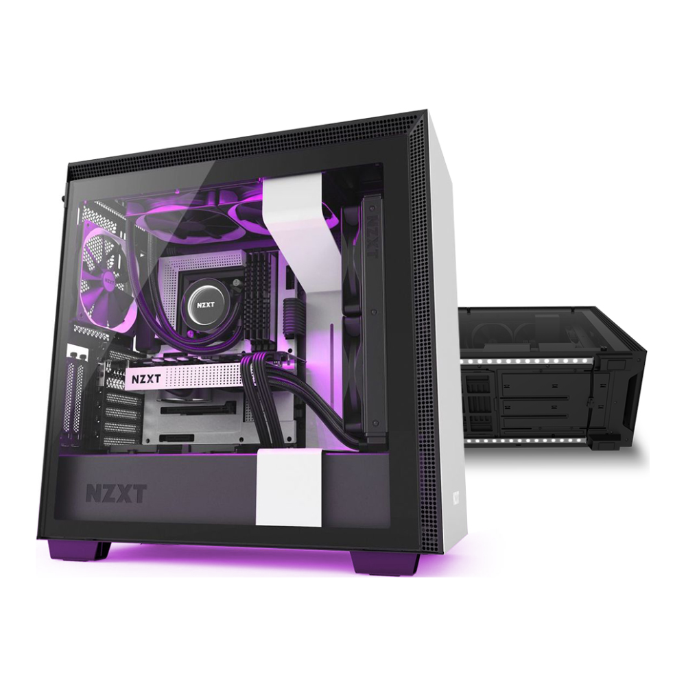 A large main feature product image of NZXT H710i Underglow Bundle