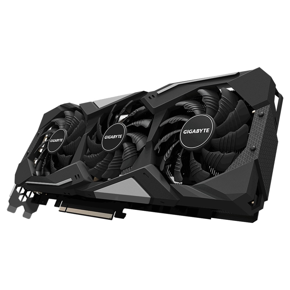 A large main feature product image of Gigabyte Radeon RX 5700 XT GAMING OC 8G