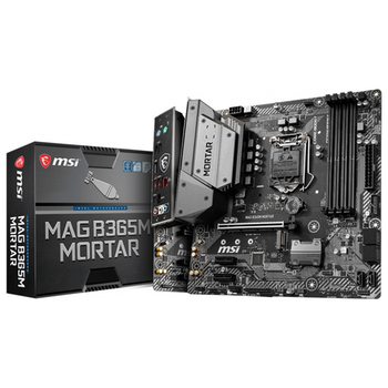 Product image of MSI MAG B365M Mortar LGA1151-CL mATX Desktop Motherboard - Click for product page of MSI MAG B365M Mortar LGA1151-CL mATX Desktop Motherboard