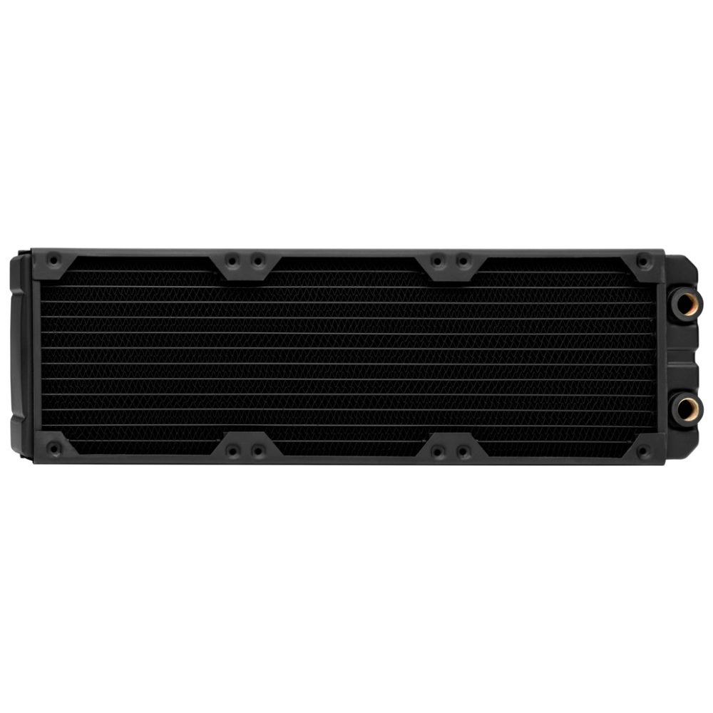 A large main feature product image of Corsair Hydro X Series XR7 360mm Radiator