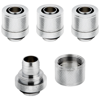 Product image of Corsair Hydro X Series XF SL Chrome Compression Fittings (10/13mm) 4 Pack - Click for product page of Corsair Hydro X Series XF SL Chrome Compression Fittings (10/13mm) 4 Pack