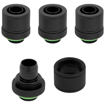 Product image of Corsair Hydro X Series XF SL Black Compression Fittings (10/13mm) 4 Pack - Click for product page of Corsair Hydro X Series XF SL Black Compression Fittings (10/13mm) 4 Pack