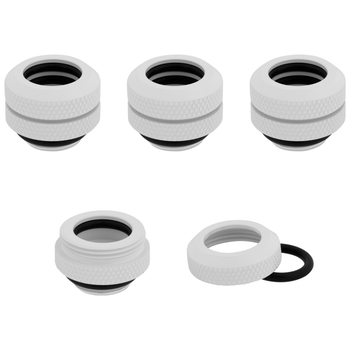 Product image of Corsair Hydro X Series XF HL White Hardline Fittings (12mm OD) 4 Pack - Click for product page of Corsair Hydro X Series XF HL White Hardline Fittings (12mm OD) 4 Pack