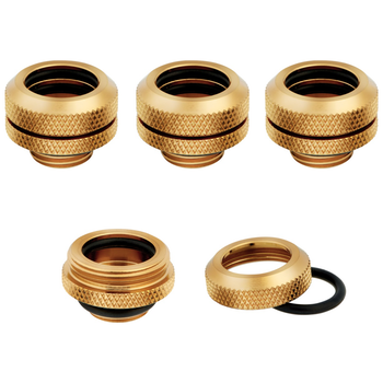 Product image of Corsair Hydro X Series XF HL Gold Hardline Fittings (14mm OD) 4 Pack - Click for product page of Corsair Hydro X Series XF HL Gold Hardline Fittings (14mm OD) 4 Pack